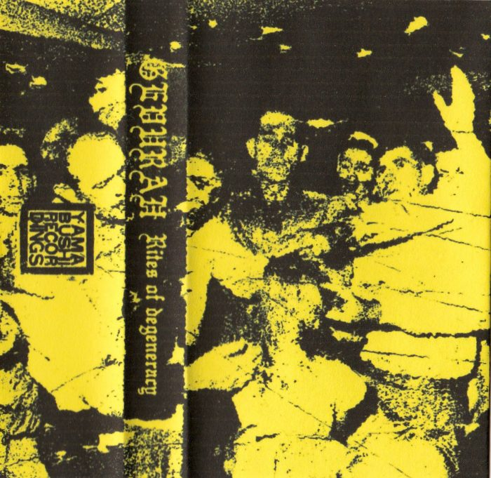 The tape cover of 'Rites of Degeneracy'