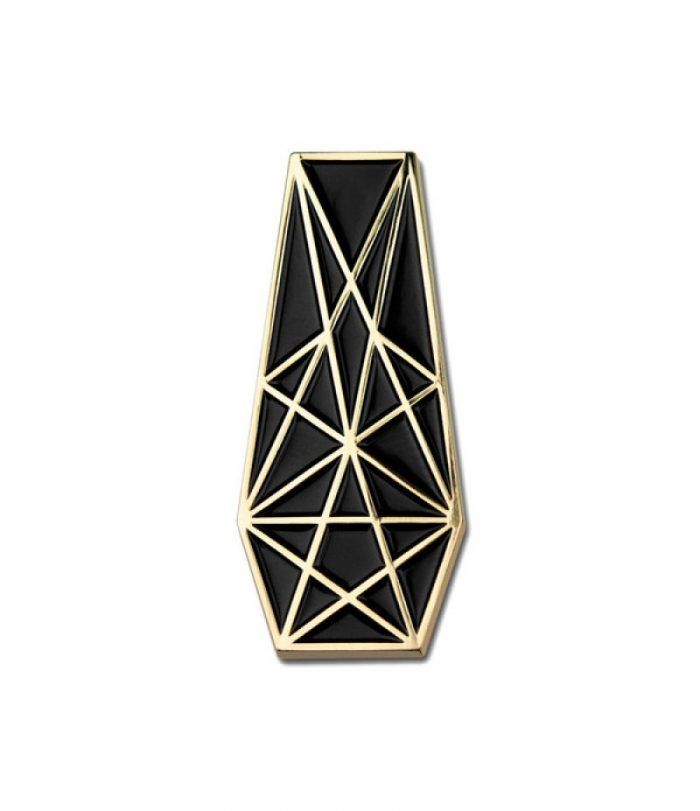 Pentacle Coffin Pin