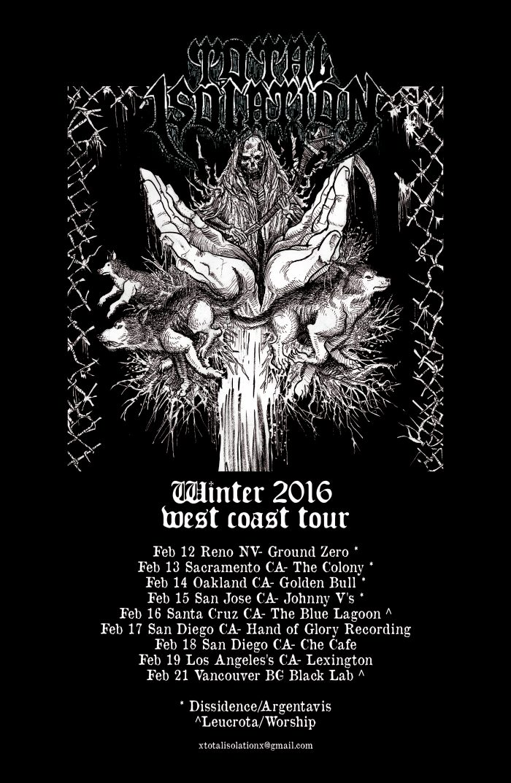 total isolation tour