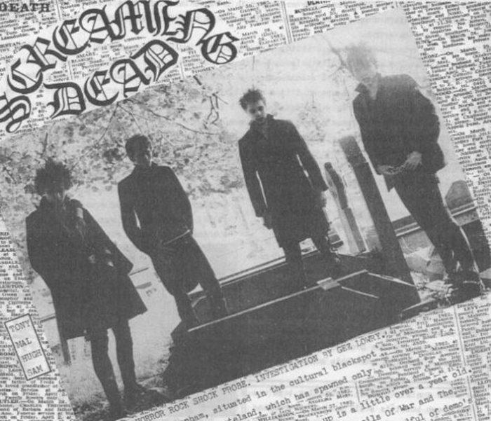 Screaming Dead in Gez Lowry's Rising Free fanzine in 1982