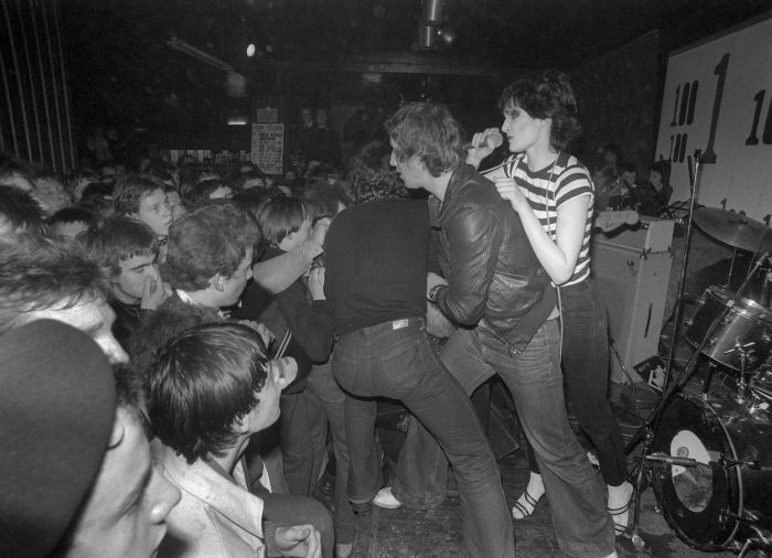 Mandatory Credit: Photo by Ray Stevenson/REX/Shutterstock (671388al) Siouxsie and the Banshees, 100 Club, London, Britain - 14 Feb 1978 - Siouxsie Sioux Siouxsie and the Banshees