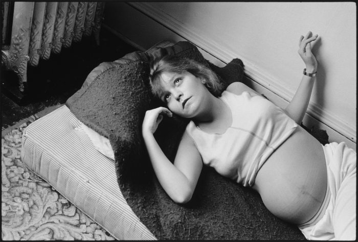 """Photo: Mary Ellen Mark Erin (who previously went by her street name """"Tiny"""") pregnant with Daylon, Seattle, 1985"""