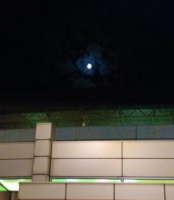 moon & building
