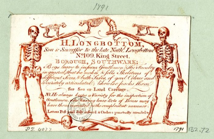 H. Longbottom trade card courtesy of the British Museum, London