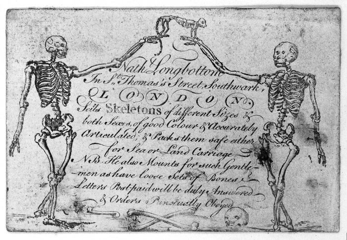 Nathaniel Longbottom trade card courtesy of Wellcome Library, London